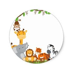 Cute Jungle Baby Animal Sticker (front side) animals silly animals animal mashups animal printables majestic animals animals and pets funny hilarious animal Baby Stickers, Cute Stickers, Safari Animals, Baby Animals, Safari Theme Party, Jungle Theme, Distintivos Baby Shower, New Baby Products, Creations