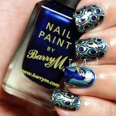 Peacock Nails by I'm A Nail Art Addict!