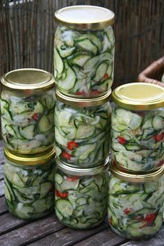 Polish Recipes, Canning Recipes, Pickles, Cucumber, Salads, Food And Drink, Veggies, Yummy Food, Healthy Recipes