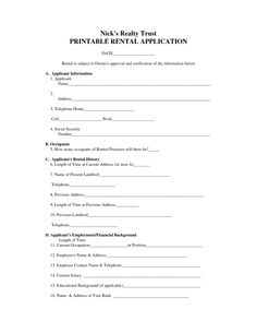 Free Rental Agreement Forms Download Rental Lease And Agreements - Home rental application template