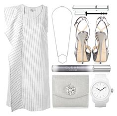 """""""clean"""" by foundlostme ❤ liked on Polyvore featuring 3.1 Phillip Lim, CLEAN, Givenchy, Head Over Heels by Dune, Diesel, Marc by Marc Jacobs, Jimmy Choo, white and graduationdaydress"""
