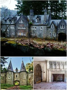 This vast abandoned castle was built over a century ago right here in America.    It was mysteriously never occupied…
