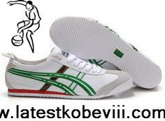 Cheap Discount Asics Onitsuka Tiger Mexico 66 Mens White Green Red Fashion Shoes Store