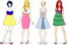Ilustração, moda e fantasia!  A ilustradora Karen Deviant criou figurinos para algumas personagens das Disney.