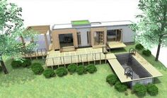 Container House - Shipping Container Homes: Shipping Container Home, - Eco Pig Designs, - Devon, UK, - Who Else Wants Simple Step-By-Step Plans To Design And Build A Container Home From Scratch? Used Shipping Containers, Shipping Container Home Designs, Cargo Container Homes, Building A Container Home, Shipping Container House Plans, Storage Container Homes, Container Buildings, Container Architecture, Architecture Design