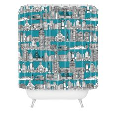 Sharon Turner San Francisco Teal Shower Curtain | DENY Designs Home Accessories