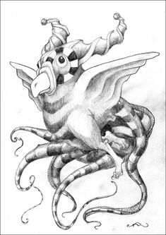 Stripey Horned Octobudgie