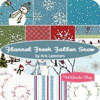 Flannel Fresh Fallen Snow Fat Quarter Bundle includes 14 fat quarters                Price: $45.50 per bundle