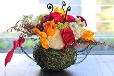 teapot flower centerpiece