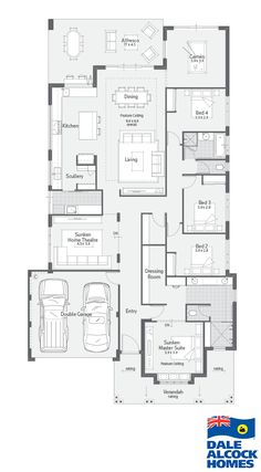 Find our selection of premium display homes for sale. If you have ever dreamed of living in a Dale Alcock home, now is your chance. 4 Bedroom House Plans, Family House Plans, New House Plans, Dream House Plans, Small House Plans, House Floor Plans, House Rooms, House Layout Plans, House Layouts