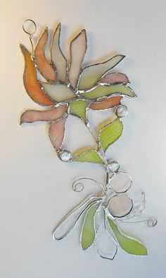 Abstract Flower. Stained Glass Suncatcher. by jacquiesummer