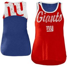 New York Giants Ladies National Title Tank Top - Red/Royal Blue