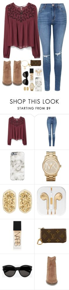 """Rodeo is coming up!!"" by teenageprep on Polyvore featuring MANGO, Topshop, Michael Kors, Kendra Scott, NARS Cosmetics, Louis Vuitton, Yves Saint Laurent, Steve Madden, Alex and Ani and women's clothing"