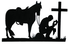 cowboy stencils for painting Metal Cristiano, Cintos Country, Remembrance Day Art, Westerns, Christian Metal, Horse Silhouette, Soldier Silhouette, Lion Brand Wool Ease, Wood Burning Crafts