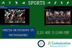 #Sports #Photography and Marketing tips #SmugMug customization by jR Customization