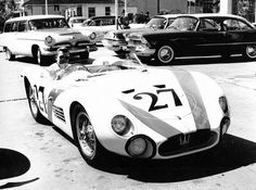 Lance Reventlow and Bill Pollack drove this Maserati 200SI in the race.