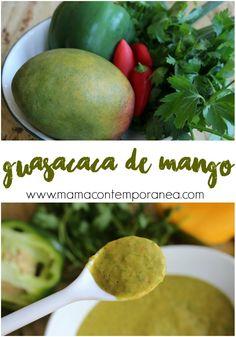 Esta guasacaca de mango sirve para acompañar parrillas, pollos a la brasa, empanadas, algunos perros calientes y por supuesto arepas. Recetas de Venezuela. Comida venezolana
