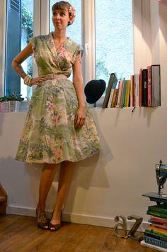 1940's style dress / Robe style 1940 par Ohmabicheshop sur Etsy, €79.00