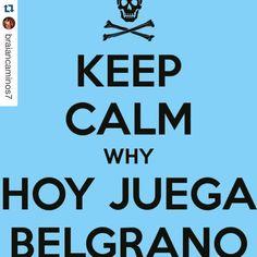 #Repost @braiancaminos7 with @repostapp.    Hoy juega Belgrano  #CAB #BELGRANO #Futbol  http://ift.tt/1QTSWwF