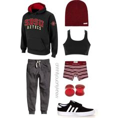 Untitled #237 by ohhhifyouonlyknew on Polyvore featuring Danskin, adidas, Neff and Abercrombie & Fitch