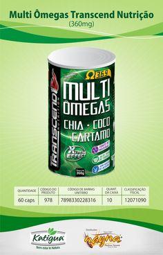 Multi Omegas Trancend Nutrição 360mg 60 Caps