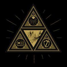 Zelda triforce art