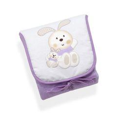 #bebes Vestidor Bebe Conejo Espiral Lila 100% Algodón y acolchado