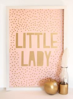 Pink background with gold metallic overlay. size and printed on white linen c New Room, Overlays, Doors, A3, Frame, Creative, Prints, Kids, Home Decor