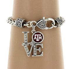 "$5.50 Crystal Accented Texas A University ""LOVE"" Bracelet"