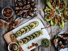 Surtido de aperitivos sencillos y saludables | 6 RECETAS DIFERENTES | Delicious Martha - YouTube Fresh Rolls, Starters, Ethnic Recipes, Youtube, Food, Easy Snacks, Eten, Meals