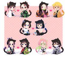 Kanao x Tanjirou Nezuko x Zenitsu Aoi x Inosuke Shinobu x Tomioka Mitsuri x Obanai Cute Anime Chibi, Anime Fnaf, Kawaii Anime Girl, Anime Love, Manga Anime, Anime Angel, Anime Demon, Beyblade Characters, Anime Characters