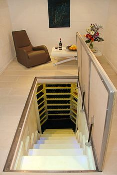 Interior: Trap Door Design Pictures Remodel Decor And Ideas House Pertaining To Trap Door Design Prepare from trap door design intended for Invigorate Cave A Vin Design, Basement Doors, Basement Storage, Basement Remodeling, Remodeling Ideas, Hidden Spaces, Hidden Rooms In Houses, Hidden House, Trap Door