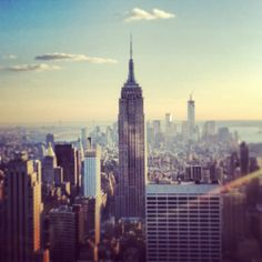NYC...love the view from the Rockafella Centre