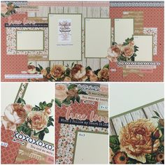 Beautiful best sites for scrapbooking ideas - 6 Scrapbooking Layouts, Scrapbook Paper, Arts And Crafts, Paper Crafts, Multi Photo, Heidi Swapp, Photo Layouts, Always And Forever, Best Sites