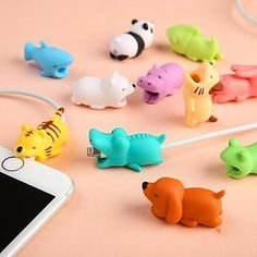 Cute Animal Cable Protector Cable Bite For iPhone USB Cable Chompers Charger Wire Holder For iPhone Cable Dropshipping(China) Iphone Ladegerät, Cable Iphone, Iphone Charger, Iphone Cases, Iphone Macbook, Iphone Watch, Iphone Holder, Cable Bite, Cord Protector