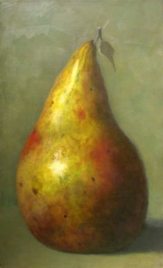 Olga Antonova (Russian, born 1956)     'Large Pear with Leaf'