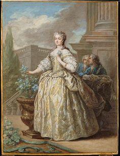 Portrait of Marie Leszczyńska, (Louvre) - Carles Van Loo
