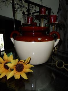 Vintage1960s McCoy Two Handled Beanpot Crock by Andie83 on Etsy, $15.00