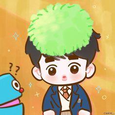 Exo Cartoon, Exo Fan Art, Exo Do, Do Kyung Soo, Disney Fan Art, Kyungsoo, True Beauty, Boy Groups, Chibi