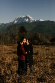Matt + Brittni had a sunrise engagement session in Squamish. Blue skies, intimate moments and mountains. Check out their session! Beautiful Sunrise, Engagement Session, Sky, In This Moment, Adventure, Couple Photos, Photography, Heaven, Couple Shots