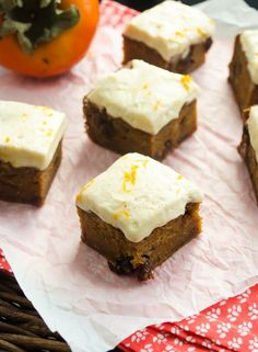 sweet persimmon bars