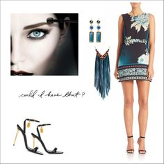 Untitled #590 by tjuli-interior on Polyvore featuring polyvore fashion style Roberto Cavalli Tom Ford Astali Kenneth Jay Lane Maybelline skaterdress fashionset polyvoreeditorial