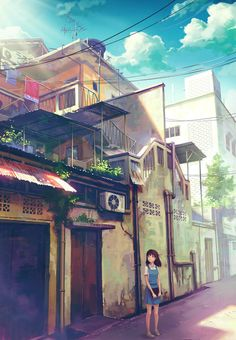 Image shared by ℳ𝓈. Find images and videos about art, anime and deviantart on We Heart It - the app to get lost in what you love. Art Anime, Manga Art, Manga Anime, Graphisches Design, Anime Scenery, Howls Moving Castle, Environmental Art, Grafik Design, Anime Style