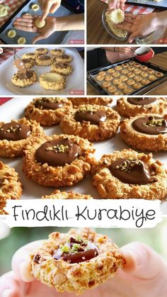 Video narration How to make Nut Cookies Recipe? Delicious Cookie Recipes, Yummy Food, Hazelnut Cookies, Chocolate Turtles, Fruit Roll Ups, Turkish Recipes, Food Videos, Food And Drink, Tasty