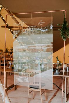 Perspex wedding tabl...
