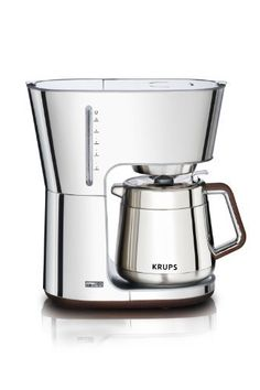 KRUPS KT600 Silver Art Collection Thermal Carafe Coffee Maker with Chrome Stainless Steel Housing, 10-Cup, Silver - http://teacoffeestore.com/krups-kt600-silver-art-collection-thermal-carafe-coffee-maker-with-chrome-stainless-steel-housing-10-cup-silver/