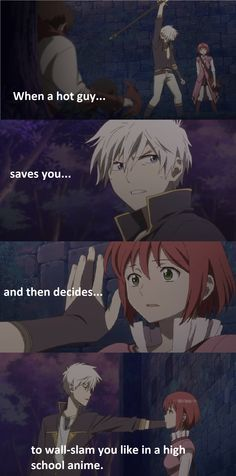 The Kabe-don is strong with Akagami no Shirayuki Hime! XD