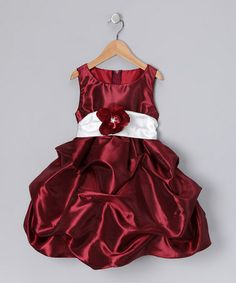 Take a look at this Burgundy Fancy Bon Bon Dress - Infant, Toddler & Girls by Parade of Pretty: Girls' Apparel on #zulily today!