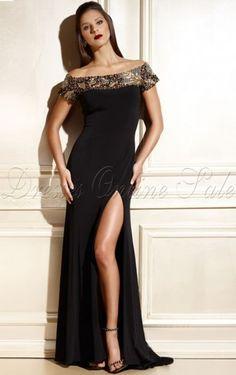 Modern Sheath Floor-length Off The Shoulder Black Taffeta Dress