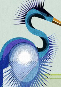"""lifeasillustrated: """"Heron detail """""""